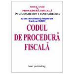 Codul de procedură fiscală - 25 noiembrie 2015 - in vigoare de la 1 ianuarie 2016
