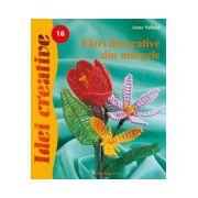 Flori decorative din mărgele - Idei Creative 16