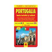 Harta Portugaliei - turistica si rutiera
