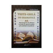 Teste-Grila de gramatica pentru admiterea in scolile de agenti de politie,subofiteri de jandarmi,Romana si Engleza (2015)