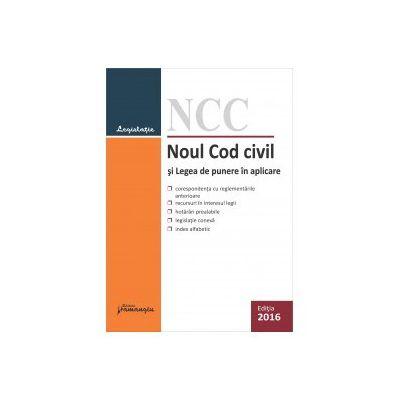 Noul Cod civil si Legea de punere in aplicare. Actualizat 5 ianuarie 2016