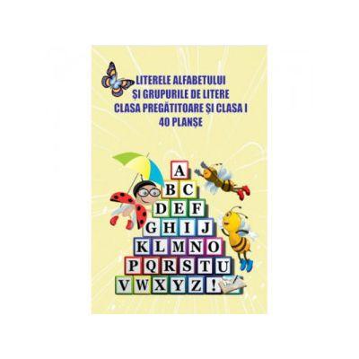 Literele alfabetului și grupurile de litere clasa pregătitoare și clasa I, 40 planșe