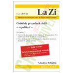 Codul de procedura civila (actualizat la 5-08-2012) - republicat