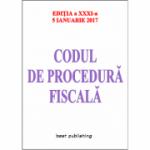 Codul de procedură fiscală - 5 ianuarie 2017