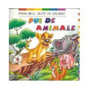 Prima mea carte de colorat - Pui de animale
