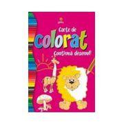 Carte de colorat continua desenul