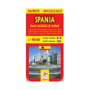 Harta Spaniei - Turistica si rutiera
