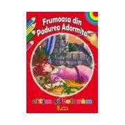 Citim si Coloram Frumoasa din Padurea Adormita
