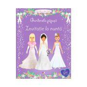 Garderoba păpuşii: Invitaţie la nuntă Activităţi cu autocolante. Vârsta 3+