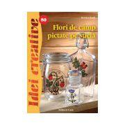 Flori de câmp pictate pe sticlă - Idei creative 80