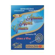 Auxiliar de Aritmetica, Algebra si Geometrie pentru clasa a VI-a, semestrul II - 2014