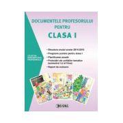 Documentele profesorului pentru clasa 1 - 2014-2015. Sem. I