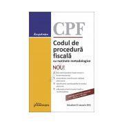 Codul de procedura fiscala cu normele metodologice - actualizat 21 ianuarie 2015