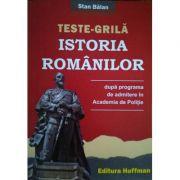 Teste-grila istoria romanilor dupa programa de admitere in Academia de Politie