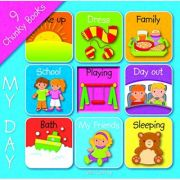 My day (Board book with 9 books)