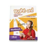 Right on! Limba moderna 1, engleza. Clasa a VI-a, Workbook - Jenny Dooley