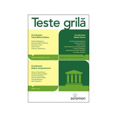 Teste grilă - Drept civil - Drept procesual civil - Drept penal - Procedură penală