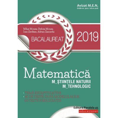 Matematică. Bacalaureat 2019. M_ştiinţele-naturii, M_tehnologic