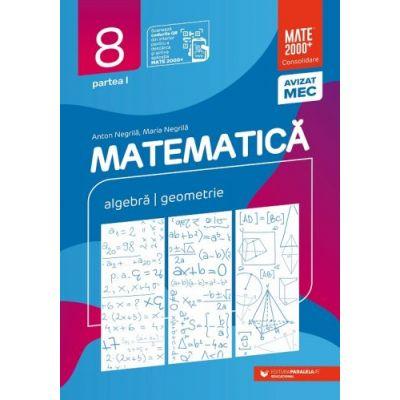 Matematică. Algebră, geometrie. Clasa a VIII-a. Consolidare. Partea I
