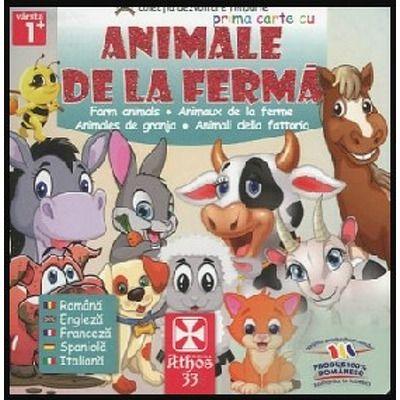 Prima carte cu Animale de la Ferma