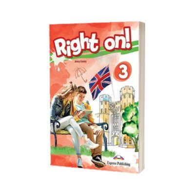 Right on! 3 Workbook with Digibook app. Caiet de limba engleza, level Pre-Intermediate (B1) - Dooley, Jenny